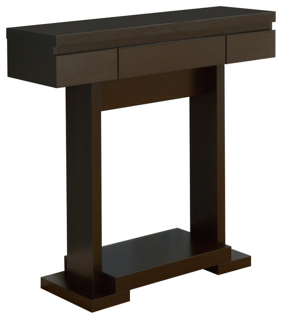Foyer Console Quest : Vernon modern console table with storage cappuccino