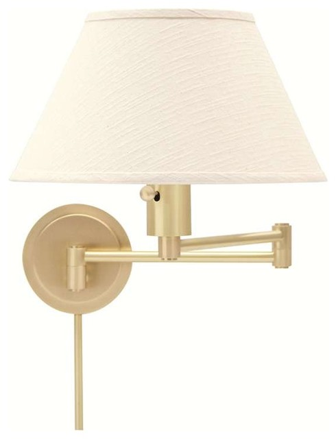 Wall Lamps Swing Arm Brass : House of Troy Wall Swing Satin Brass - WS14-51 - Transitional - Swing Arm Wall Lamps - by ShopFreely