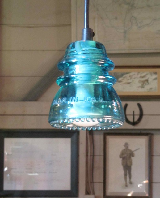 Insulator light blue green pendant lighting san for Insulator pendant light
