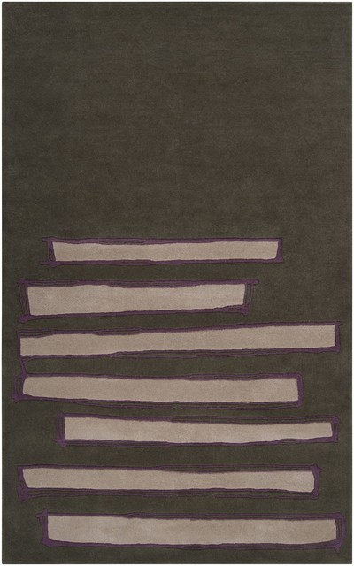 Gray green purple area rug contemporary area rugs by rugpal