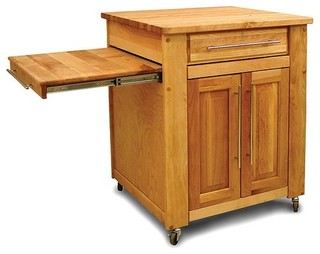 Mini - Empire Kitchen Cart with Butcher Block Top - Modern - Kitchen Islands And Kitchen Carts