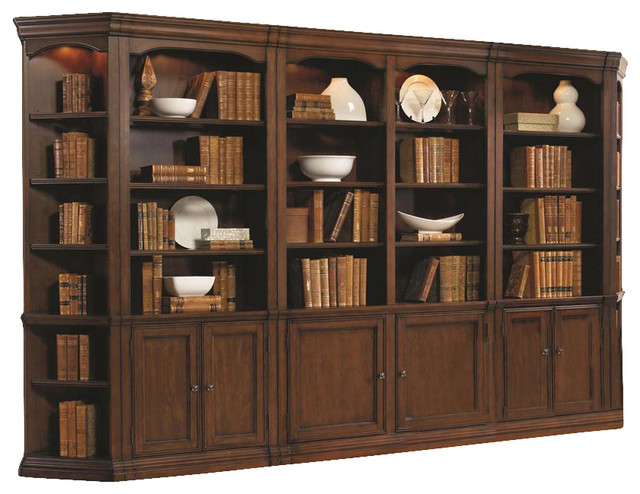 Hooker Furniture Cherry Creek Wall Bookcase Traditional Bookcases By Seldens Furniture