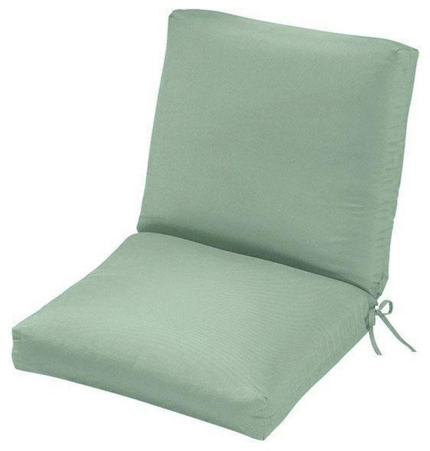 Home Decorators Collection Cushions Mist Sunbrella Outdoor Chair Cushion Co
