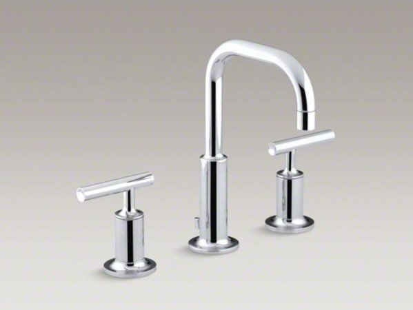 KOHLER Purist R Widespread Bathroom Sink Faucet With Low Lever Handles And L