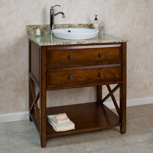 30 Clinton Vanity For Semi Recessed Sink Contemporary Bathroom Vani