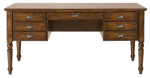 Printer's Keyhole Desk, Tuscan Chestnut Stain - Traditional - Desks And Hutches - sacramento ...