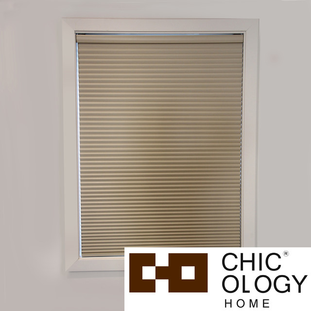 Chicology Room Darkening Cordless Cellular Window Shade Contemporary Cellular Shades By