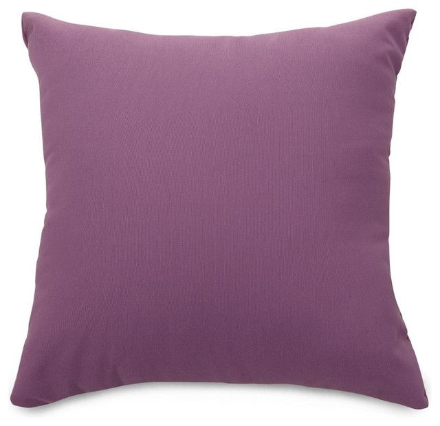 Lilac Pillow Contemporary Outdoor Cushions And