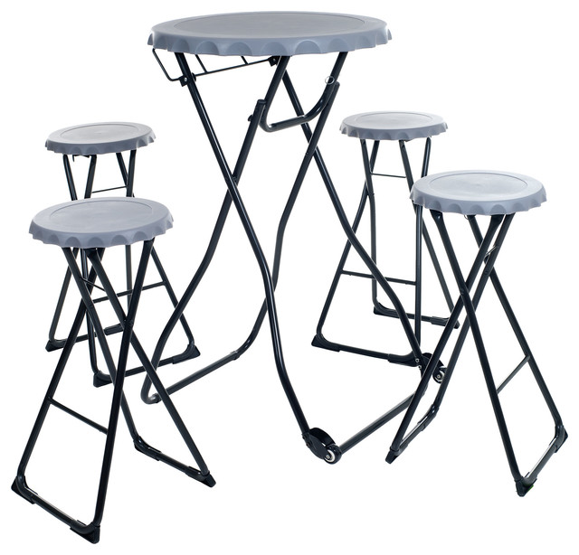 Large 5 Piece Portable Picnic Table Set Pop Up Table 4