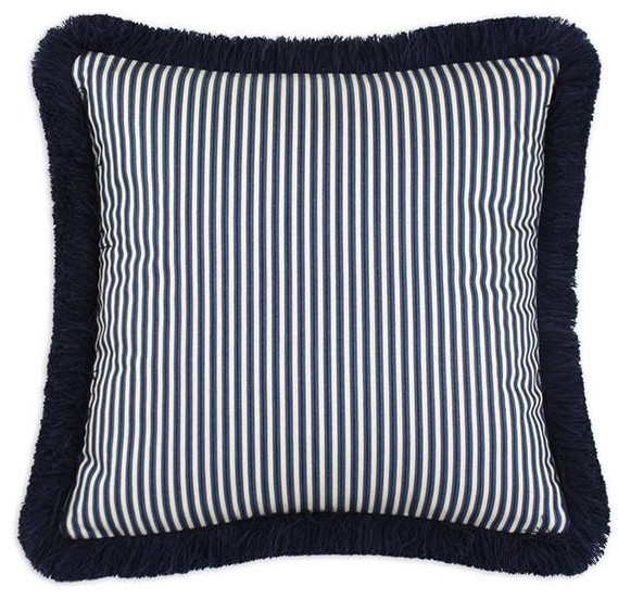 Custom Fringed Square Pillow - Traditional - Decorative Pillows