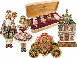Nutcracker Ornament Artistic Wood Carved Sculpture - Traditional - Christmas Ornaments - by ...