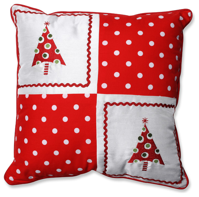 Decorative Christmas Pillows Throws : Christmas Trees Throw Pillow - Contemporary - Decorative Pillows - by Pillow Perfect Inc