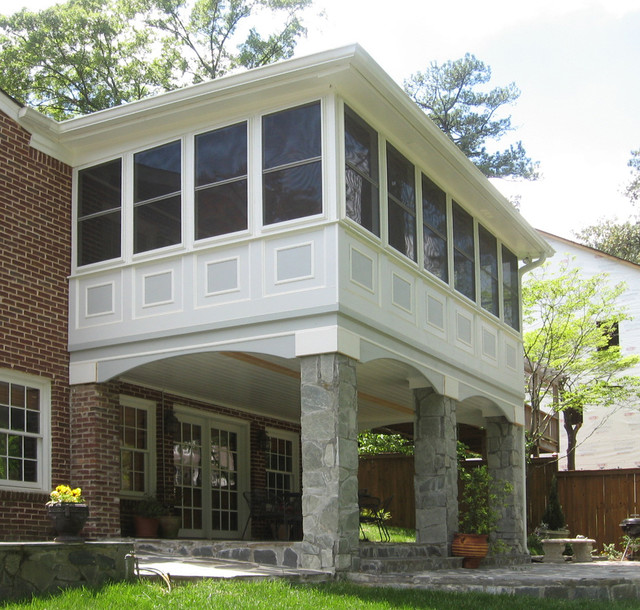 windowed back porches traditional atlanta by atlanta decking