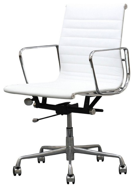 Chair In White Set Of 2 Contemporary Office Chairs By Manhattan