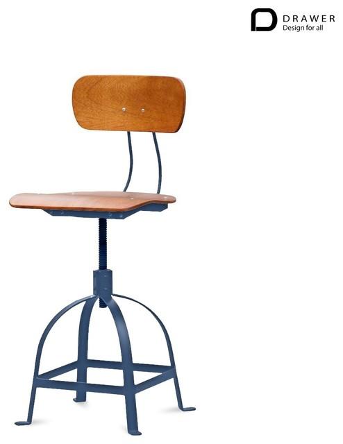 Chaise industrielle architecte jb pennel couleur gris industriel chaise et tabouret de bar for Chaise bar couleur