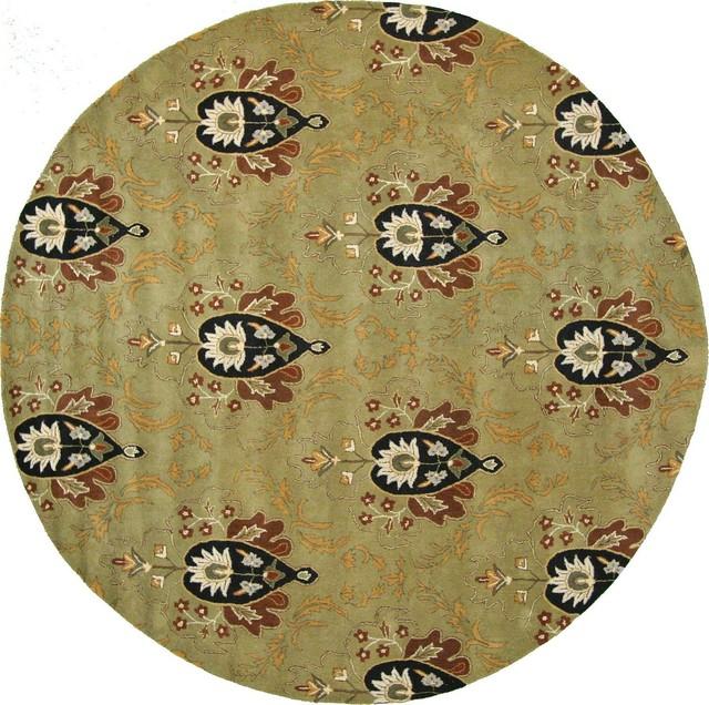 12' X 12' Floral Agra Round Rug
