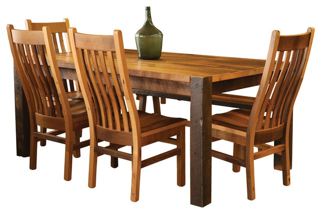 Shire Ridge Dining Set Reclaimed Barn Wood 42quotx60  : rustic dining sets from www.houzz.com size 640 x 428 jpeg 81kB