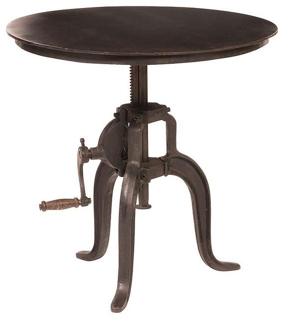 adjustable side table industriel table d 39 appoint et bout de canap par zin home. Black Bedroom Furniture Sets. Home Design Ideas