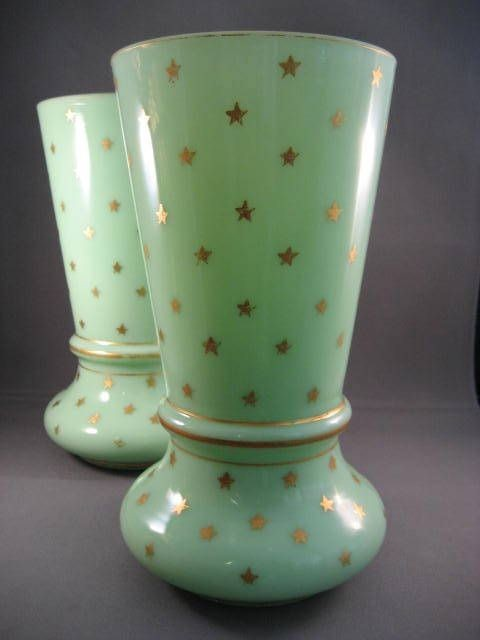 19th Century French Opaline Vases From Nobili Antiques
