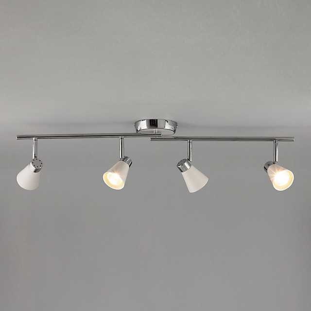 Track Lighting Kit Uk: Logan 4 Spotlight Ceiling Bar
