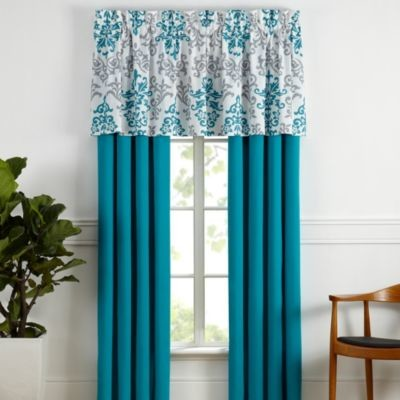 Carina window curtain panel pair in turquoise - Green and turquoise curtains ...