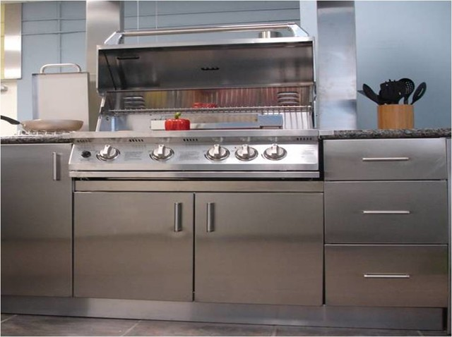 Innerspace kitchen for Stainless steel kitchen cabinetry