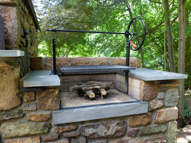 Solebury Wood Burning Brick Oven And Argentinian Wood Grill