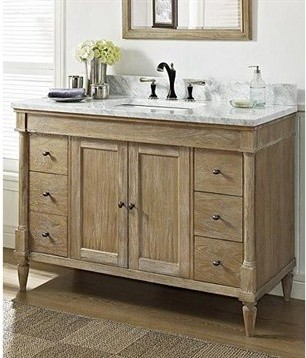 Pine Bathroom Vanity Fairmont Designs Rustic Chic 48 Weathered Simple Designschic Wooden In
