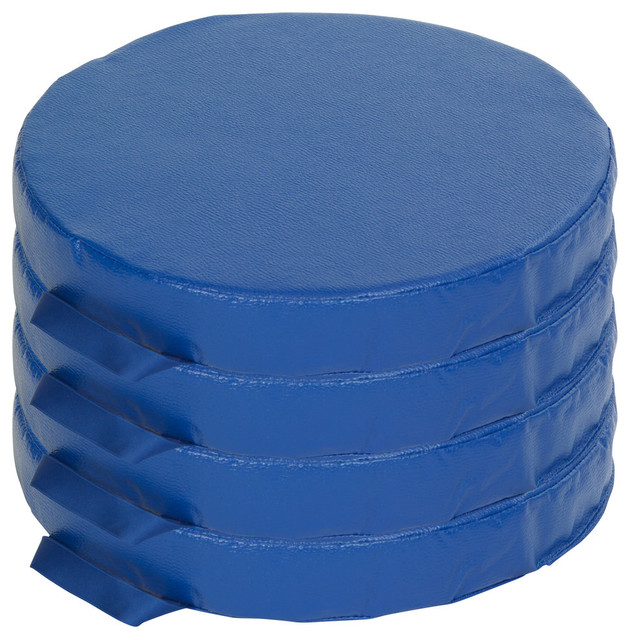 SoftZone 4 Piece Round Carry Me Cushion Blue