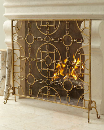 39 Equestrian 39 Fireplace Screen Traditional Fireplace Screens By Neiman Marcus