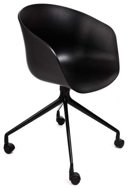 about a chair armlehn drehstuhl mit rollen bauhaus look. Black Bedroom Furniture Sets. Home Design Ideas