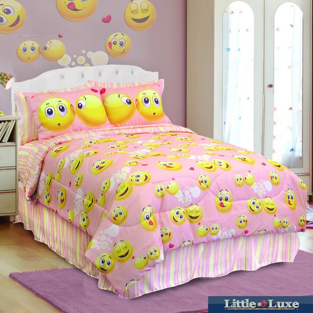 Veratex Emoji 4-piece Comforter Set - Contemporary ...