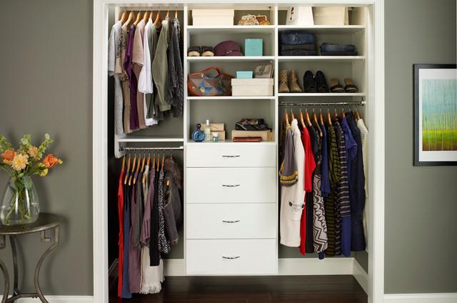reach in closet organizers white. Black Bedroom Furniture Sets. Home Design Ideas