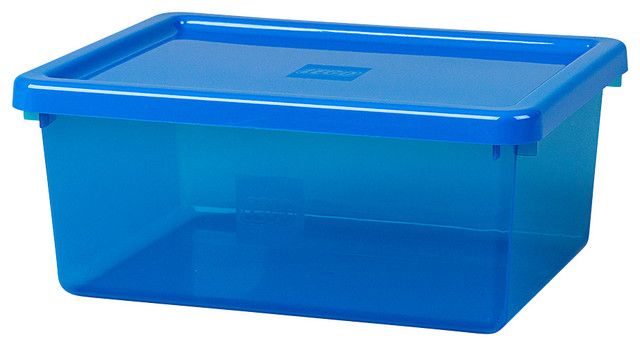 Lego Transparent Medium Storage Bin With Lid And Sorting