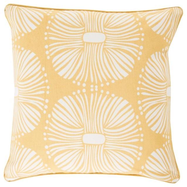 Decorative Pillows Neutral : Contemporary Burst Square Yellow-Neutral Decorative Pillow - Contemporary - Decorative Pillows ...