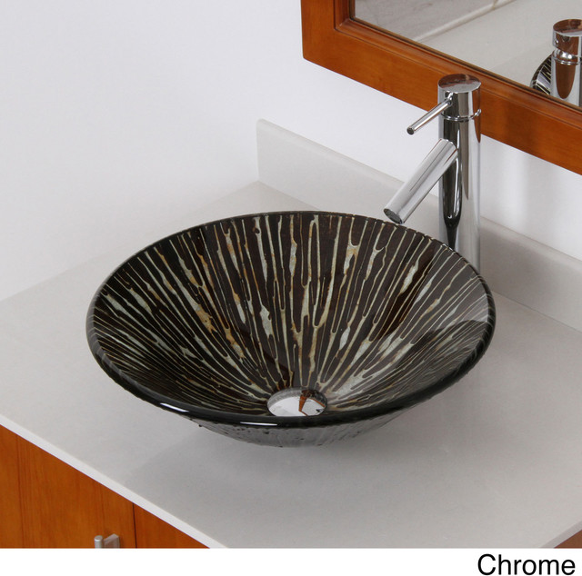 ... Bathroom Vessel Sink with Faucet Combo contemporary-bathroom-sinks