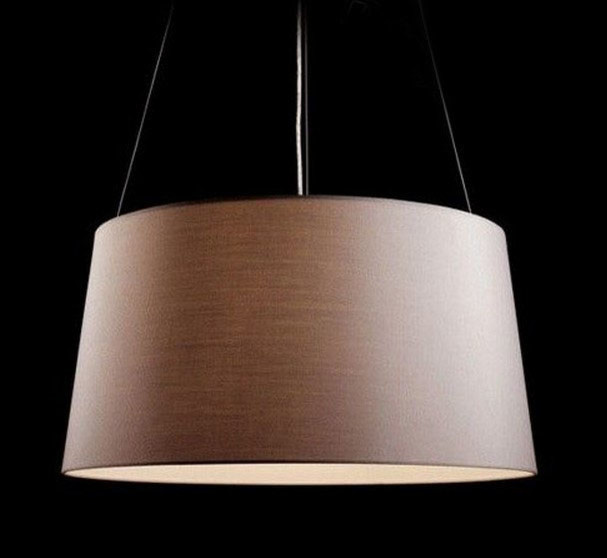 Modern Simple Fabric Shade Pendant Lighting in Chrome