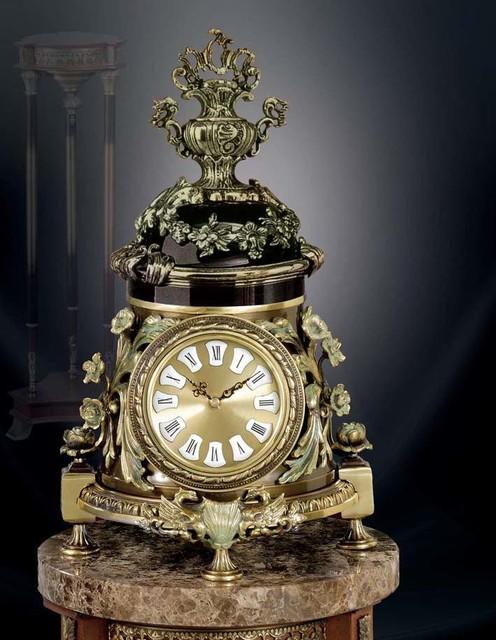Bronze table clock Traditional Desk And Mantel Clocks