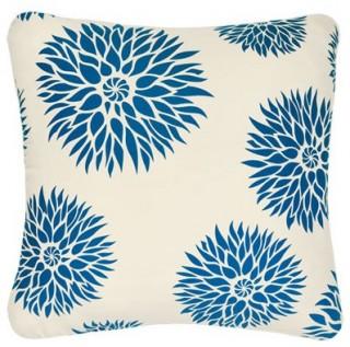 Dahlia Organic Cotton Eco Art Throw Pillow Contemporary