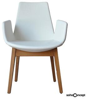 Soho Concept Eiffel Arm Chair Wood Modern Armchairs Accent Chairs