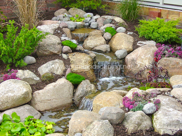 Waterfall Landscape Design Ideas natural stone for waterfall design ideas florida waterfalls landscape Pondless Waterfall Design Home Design Photos