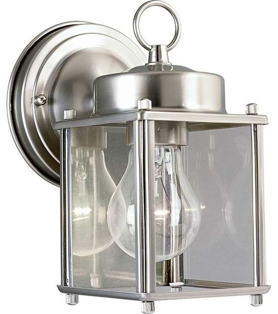 Progress Lighting P5607-09 Flat Glass Lantern 1 Light Outdoor Wall Light - Contemporary ...