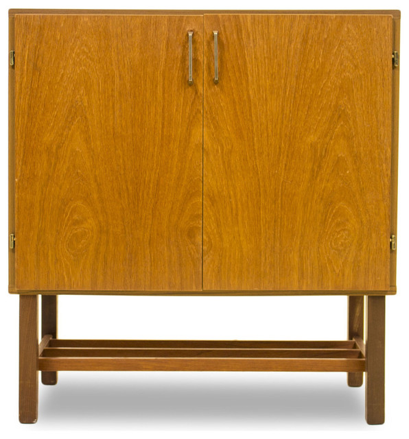 Consigned Danish Style Record Cabinet - Midcentury - Media Cabinets - by ModCenturyVintage