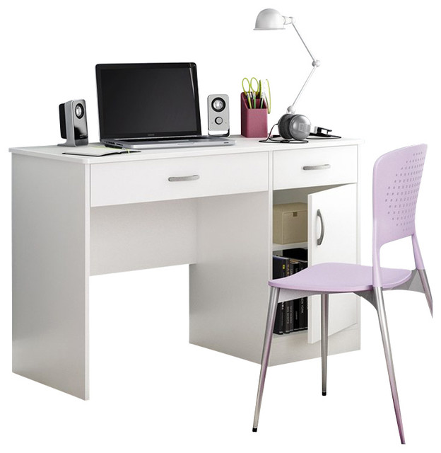 South Shore Axess Small puter Desk in Pure White