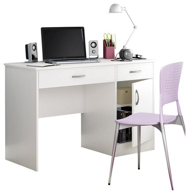 South Shore Axess Small Computer Desk In Pure White