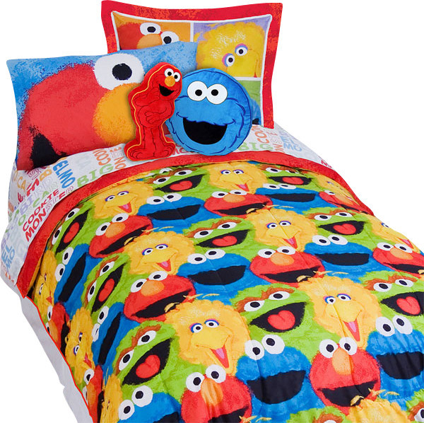 Sesame Street Elmo Chalk 5 Piece Elmo Twin Bed In A Bag