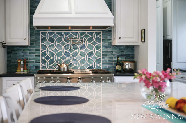 polly jewel glass backsplash transitional other by