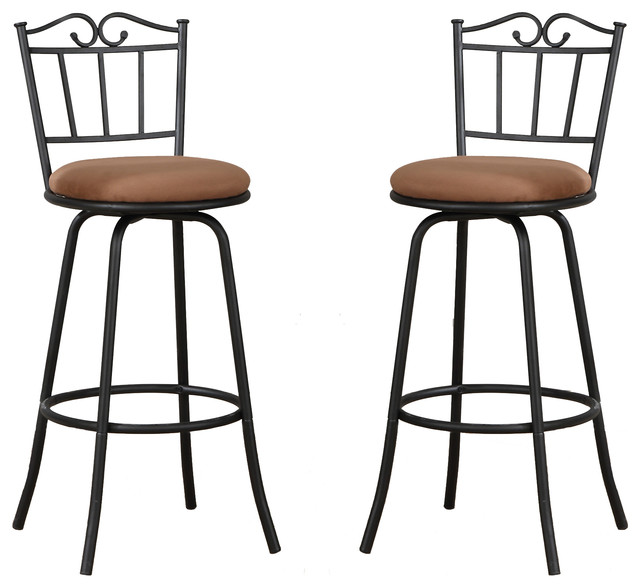 Set of 2 Unique Support Design Light Brown Cushion Swivel  : traditional bar stools and counter stools from www.houzz.com size 640 x 588 jpeg 59kB