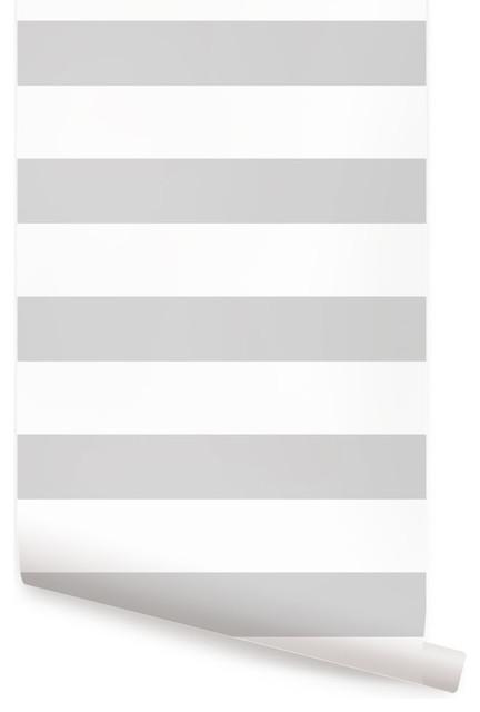 horizontal stripe wallpaper peel and stick gray 24 x48. Black Bedroom Furniture Sets. Home Design Ideas