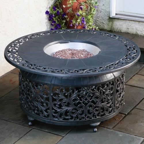 Bellagio Cast Aluminum Gas Fire Pit Modern Fireplace Accessories By Hayneedle